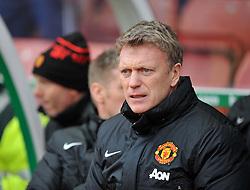 Manchester United Manager, David Moyes - Photo mandatory by-line: Alex James/JMP - Tel: Mobile: 07966 386802 01/02/2014 - SPORT - FOOTBALL - Britannia Stadium - Stoke-On-Trent - Stoke v Manchester United - Barclays Premier League
