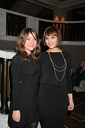 Left to right, SARAH OVENS and ANNABEL SCHOLEY at the Old Vic 24 Hour Plays Celebrity Gala held at the Rosewood Hotel, 252 High Holborn, London on 24th November 2013.