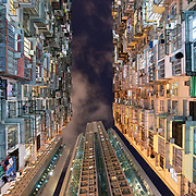 A housing estate in Hong Kong. Hong Kong has the highest rental prices in the world and many people live in cramped conditions.