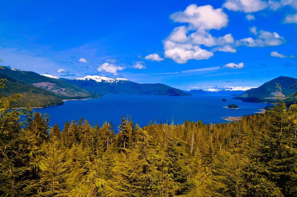 Views from Three Sisters Overlook, Nemo Point, Tongass National Forest near Wrangell, Southeast Alaska USA