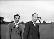 24/06/1952<br /> 06/24/1952<br /> 24 June 1952<br /> The Dublin Senior hurling team in training at Parnell Park before the Leinster Senior Hurling Final against Wexford in Nowlan Park, Kilkenny. Dublin won the final 7-2 to 3-6.