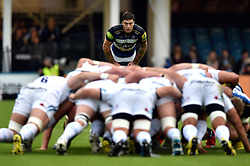 Matt Banahan of Bath Rugby watches a scrum - Mandatory byline: Patrick Khachfe/JMP - 07966 386802 - 10/10/2015 - RUGBY UNION - The Recreation Ground - Bath, England - Bath Rugby v Exeter Chiefs - West Country Challenge Cup.