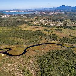 """Aérea de Guarapari (Paisagem) fotografado em Guarapari, município do estado do Espírito Santo -  Sudeste do Brasil. Bioma Mata Atlântica. Registro feito em 2018.<br /> ⠀<br /> ⠀<br /> <br /> <br /> <br /> <br /> ENGLISH: Guarapari City Aerial photographed in Guarapari, in Espírito Santo - Southeast of Brazil. Atlantic Forest Biome. Picture made in 2018."""