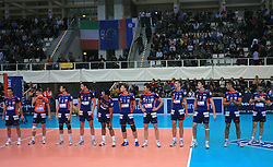 Team of ACH Bled at volleyball match of CEV Indesit Champions League Men 2008/2009 between Trentino Volley (ITA) and ACH Volley Bled (SLO), on November 4, 2008 in Palatrento, Italy. (Photo by Vid Ponikvar / Sportida)