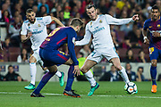 11 Gareth Bale from Gales of Real Madrid defended by 03 Gerard Pique from Spain of FC Barcelona during the Spanish championship La Liga football match between FC Barcelona and Real Madrid on May 6, 2018 at Camp Nou stadium in Barcelona, Spain - Photo Xavier Bonilla / Spain ProSportsImages / DPPI / ProSportsImages / DPPI