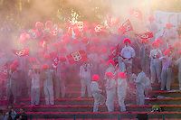 Supporters Evian Thonon  - 09.05.2015 -  Evian Thonon / Reims  - 36eme journee de Ligue 1<br />