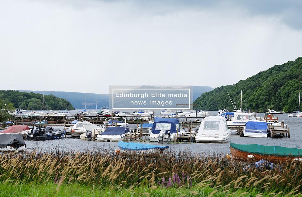 Views of Balmaha, Loch Lomond, Scotland, 31st July 2016<br /> <br /> The bay at Balmaha on Loch Lomond<br /> <br /> (c) Alex Todd   Edinburgh Elite media