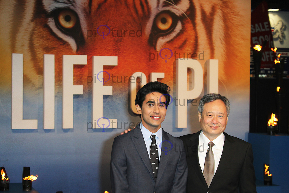 LONDON - DECEMBER 03: Suraj Sharma; Ang Lee attended the UK Film Premiere of 'Life Of Pi' at the Empire Cinema, Leicester Square, London, UK. December 03, 2012. (Photo by Richard Goldschmidt)