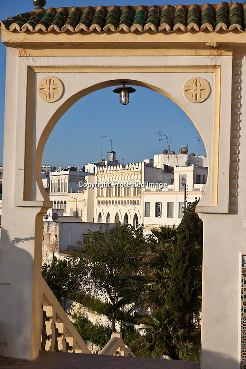Morroco, Tangier, Old medina, hotel Continental overlooking the port