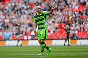 Forest Green's David Pipe during the Conference Premier Final match between Forest Green Rovers and Grimsby Town FC at Wembley Stadium, London, England on 15 May 2016. Photo by Shane Healey.