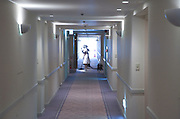 female servant cleaning the hall in a large hotel Kyoto Japan