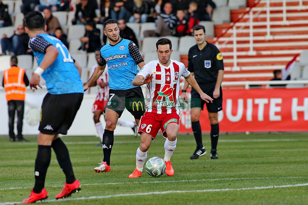 January 27, 2018 - Ajaccio, CORSE, FRANCE - Mathieu COUTADEUR (ACA) vs Haris BELKEBLA  (Credit Image: © Panoramic via ZUMA Press)