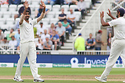 Jasprit Bumrah of India celebrates getting Joe Root of England during the 3rd International Test Match 2018 match between England and India at Trent Bridge, West Bridgford, United Kingdon on 21 August 2018.