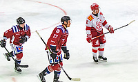2020-01-19 | Umeå, Sweden:Teg (27) Robin Johansson makes his secound goal for tonight in  AllEttan during the game  between Teg and Vallentuna at A3 Arena ( Photo by: Michael Lundström | Swe Press Photo )<br /> <br /> Keywords: Umeå, Hockey, AllEttan, A3 Arena, Teg, Vallentuna, mltv200119