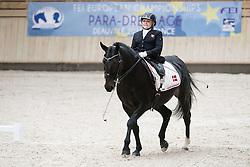 Tange Kaastrup Stinna, (DEN), Steffi Graf<br /> Grade Ib Team Test<br /> Para-Dressage FEI European Championships Deauville 2015<br /> © Hippo Foto - Jon Stroud<br /> 18/09/15