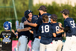 Team France erupts after scoring and getting back at the score during the 15U Euro 2016 Final.