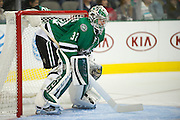 DALLAS, TX - NOVEMBER 1:  Kari Lehtonen #32 of the Dallas Stars looks on against the Colorado Avalanche on November 1, 2013 at the American Airlines Center in Dallas, Texas.  (Photo by Cooper Neill/Getty Images) *** Local Caption *** Kari Lehtonen