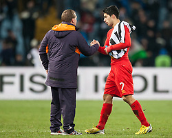 06.12.2012, Stadio Friuli, Udine, ITA, UEFA EL, Udinese Calcio vs FC Liverpool, Gruppe A, im Bild Brendan Rodgers (Trainer, Liverpool FC), Luis Suarez (# 07, Liverpool FC) // during the UEFA Europa League group A match between Udinese Calcio and Liverpool FC at the Stadio Friuli, Udinese, Italy on 2012/12/06. EXPA Pictures © 2012, PhotoCredit: EXPA/ Juergen Feichter