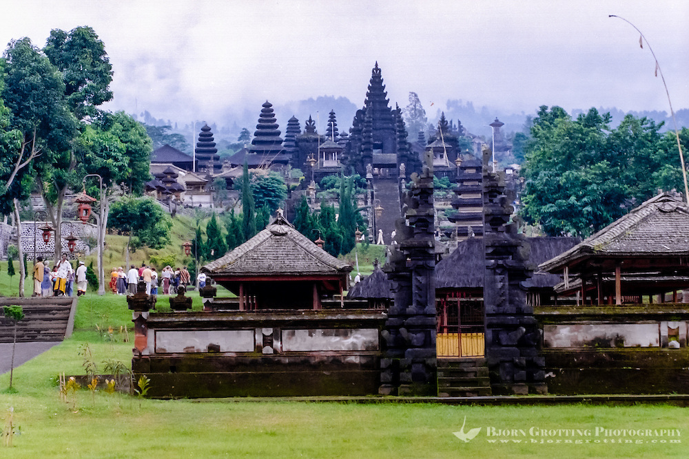 Bali, Karangasem, Besakih. The Mother Temple of Besakih, or Pura Besakih, on the slopes of Mount Agung, is the most important, the largest and holiest temple on Bali.