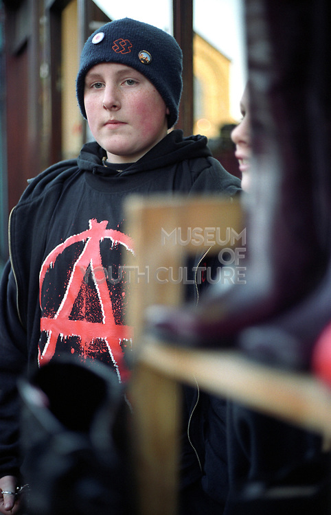A plump Nu Metal Youth, staring into the distabce, Camden Town, London, UK 2000'