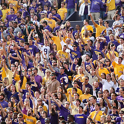 November 25, 2011; Baton Rouge, LA, USA;  LSU Tigers fans cheer during the second quarter of a game against the Arkansas Razorbacks at Tiger Stadium.  Mandatory Credit: Derick E. Hingle-US PRESSWIRE