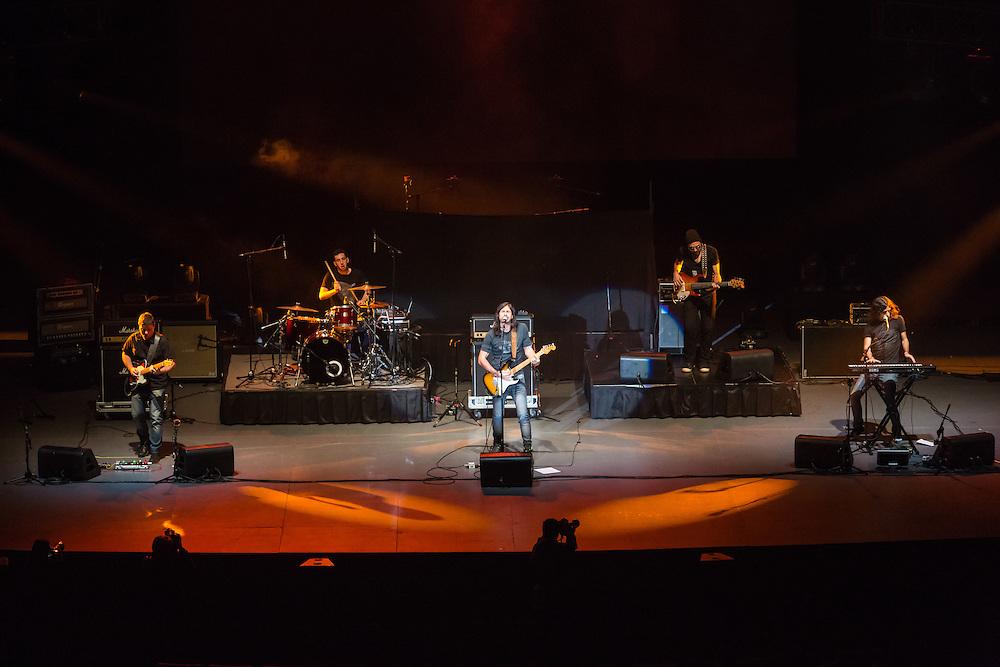 Mexico, D.F. 19/08/2015. Auditorio Nacional. Concierto del grupo argentino Enanitos Verdes. Mancha de Rolando.