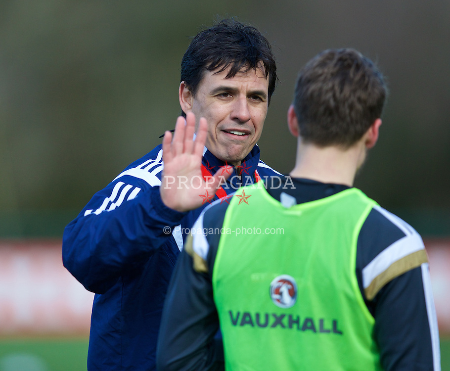 CARDIFF, WALES - Tuesday, March 24, 2015: Wales' manager Chris Coleman during a training session at the Vale of Glamorgan ahead of the UEFA Euro 2016 qualifying Group B match against Israel. (Pic by David Rawcliffe/Propaganda)