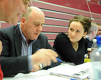 Deputy Noel Grealish Independent at the Count centre at Leisureland, Salthill, Galway during the Galway West count. Photo:Andrew Downes