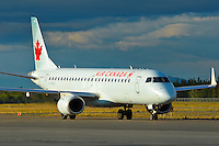 Air Canada Embraer 190 taxiing on the Whitehorse ramp