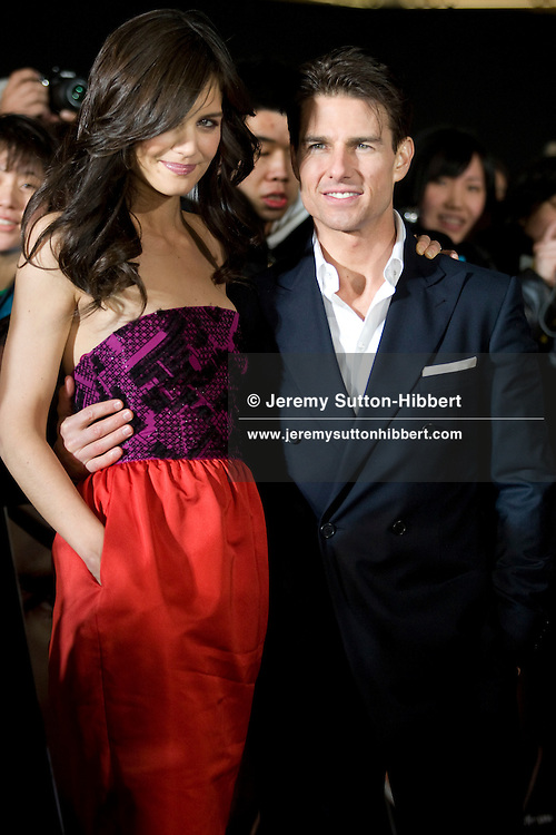 Tom Cruise, with wife Katie Holmes, at the Japan premiere of movie 'Valkyrie', in Tokyo, Japan, Wednesday 11th March 2009.