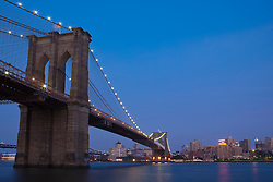 Brooklyn Bridge at twilight