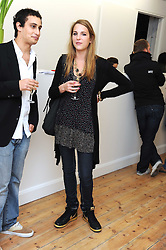 ALEX DELLAL and FLORA SCRYMGEOUR at the inaugural exhibition at the Yvon Lambert London Gallery featuring work ny Mexican born artist Carlos Amorales, 20 Hoxton Square, London N1 on 16th October 2008.