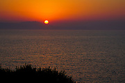 Mediterranean Sun Set. Photographed in Chania, Crete Island, Greece
