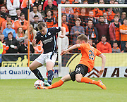 Dundee's Paul McGowan and Dundee United's Blair Spittal - Dundee United v Dundee at Tannadice Park in the SPFL Premiership<br /> <br />  - © David Young - www.davidyoungphoto.co.uk - email: davidyoungphoto@gmail.com