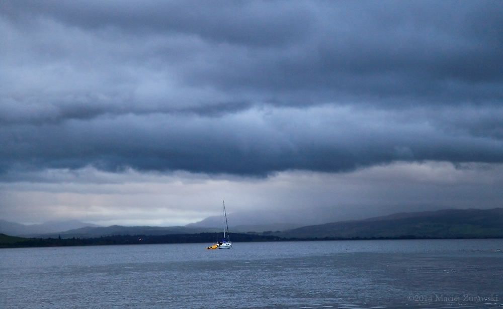 A Boat on the Beauly Firth, Inverness, Scotland.