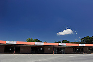All the spaces were for rent in this new, empty strip mall in rural Union County, North Carolina