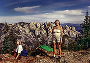 Diane Rapaport and Sue Swanson in the high sierra near Piute Pass