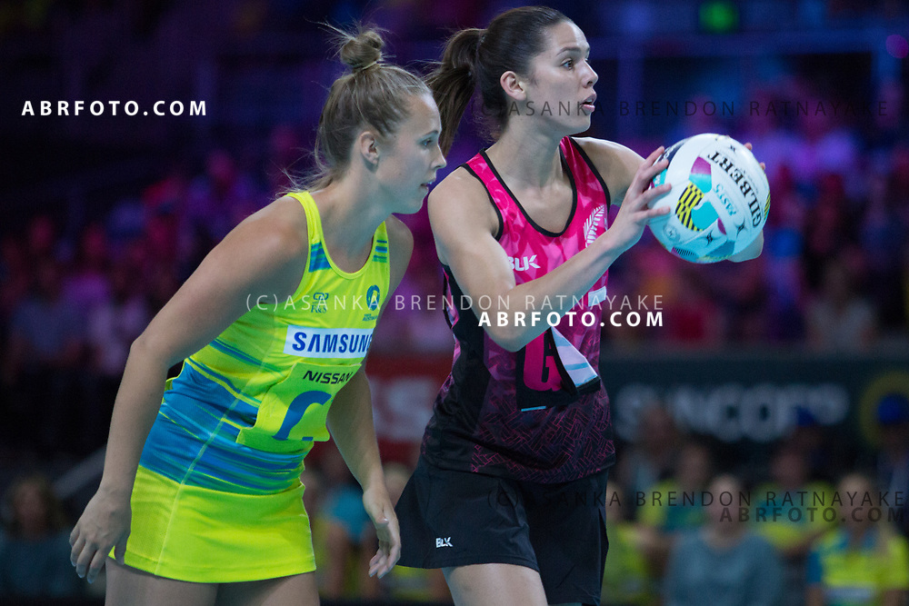 Kayla Cullen during the Fast5 Netball 3rd Vs 4th match between New Zealand Silver Ferns and Australia at Hisense Arena Melbourne Australia. Sunday 29th October 2017. Copyright Photo. Brendon Ratnayake / www.photosport.nz