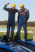 Mark Winterbottom & Steve Owen (Pepsi Max Ford). 2015 Wilson Security Sandown 500. V8 Supercars Championship Round 9. Sandown International Raceway, Victoria. Sunday 13 September 2015. Photo: Clay Cross / photosport.nz