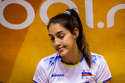 23-08-2017 NED: World Qualifications Greece - Slovenia, Rotterdam<br /> SloveniÎ wint met 3-0 / Sara Dukic #10 of Slovenia<br /> Photo by Ronald Hoogendoorn / Sportida