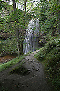 UK, Wales, Monmouthshire, Henrhyd Waterfalls at Brecon Beacons National Park