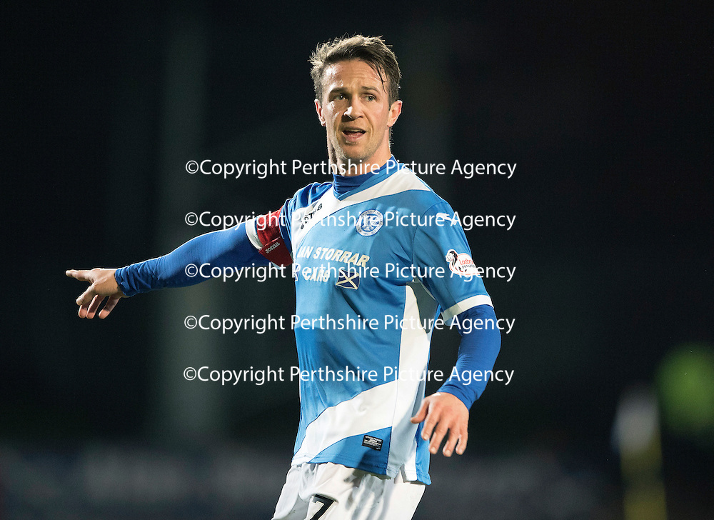 St Johnstone v Motherwell&Ouml;17.12.16     McDiarmid Park    SPFL<br /> Chris Millar<br /> Picture by Graeme Hart.<br /> Copyright Perthshire Picture Agency<br /> Tel: 01738 623350  Mobile: 07990 594431