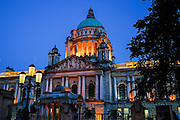 Belfast. City Hall (1903) designed by Brumwell Thomas in Renaissance style.