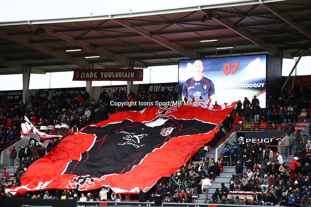 Supporters Toulouse - 28.12.2014 - Toulouse / Racing Metro - 14eme journee de Top 14 <br />