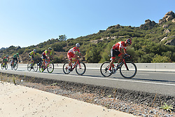 October 13, 2017 - Marmaris, Turkey - A breakaway group of six riders during the fourth stage - the 204.1 km Turkish Airlines Marmaris to Selcuk stage of the 53rd Presidential Cycling Tour of Turkey 2017. (Credit Image: © Artur Widak/NurPhoto via ZUMA Press)