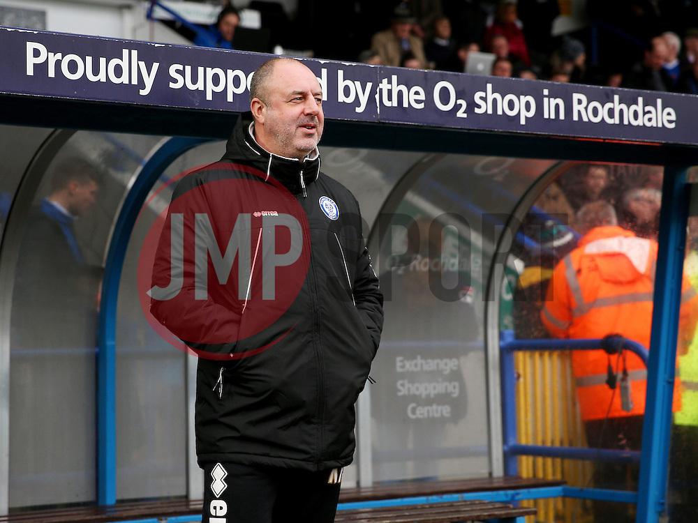Rochdale Manager, Keith Hill  - Mandatory byline: Matt McNulty/JMP - 06/12/2015 - Football - Spotland Stadium - Rochdale, England - Rochdale v Bury - FA Cup