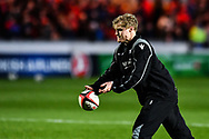 Scarlets' Aled Davies during the pre match warm up<br /> <br /> Photographer Craig Thomas/Replay Images<br /> <br /> European Rugby Champions Cup Round 5 - Scarlets v Toulon - Saturday 20th January 2018 - Parc Y Scarlets - Llanelli<br /> <br /> World Copyright © Replay Images . All rights reserved. info@replayimages.co.uk - http://replayimages.co.uk