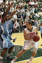 08 February 2014:  Jordan Nelson during an NCAA mens division 3 CCIW basketball game between the Elmhurst Bluejays and the Illinois Wesleyan Titans in Shirk Center, Bloomington IL