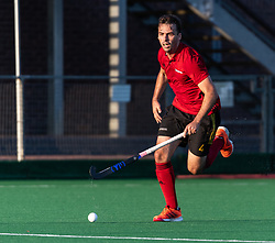 Southgate v St Albans at Southgate Hockey Centre, Trent Park, London, England on 21 September 2019.<br /> Photo by Simon Parker/SP Action Images