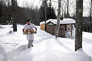 Erik Goodling took a two year break from teaching English at Richmond Middle School to start a small commercial bakery out of his home in Strafford, Vt. Goodling produces about 60 loaves twice a week to sell at markets and directly to customers.  (Valley News - James M. Patterson)<br /> Copyright &copy; Valley News. May not be reprinted or used online without permission. Send requests to permission@vnews.com.